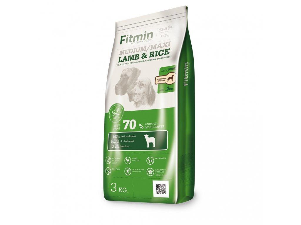 fitmin dog medium maxi lamb rice 3 kg h L