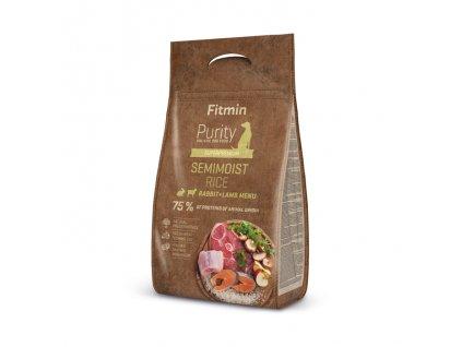 Fitmin dog Purity Rice Semimoist Rabbit,Lamb 800g
