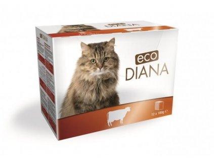 DIANA cat Kapsa hovězí 12x100g