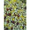 partiklový mix suchý-kukuřice žlutá i červená , pšenice, sója, hrách, řepka