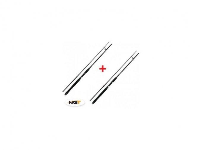 NGT Prut Carp Stalker Rod 8ft/2pc black 1+1 ZDARMA! + 1 krát boilies 250g zdarma bicolor