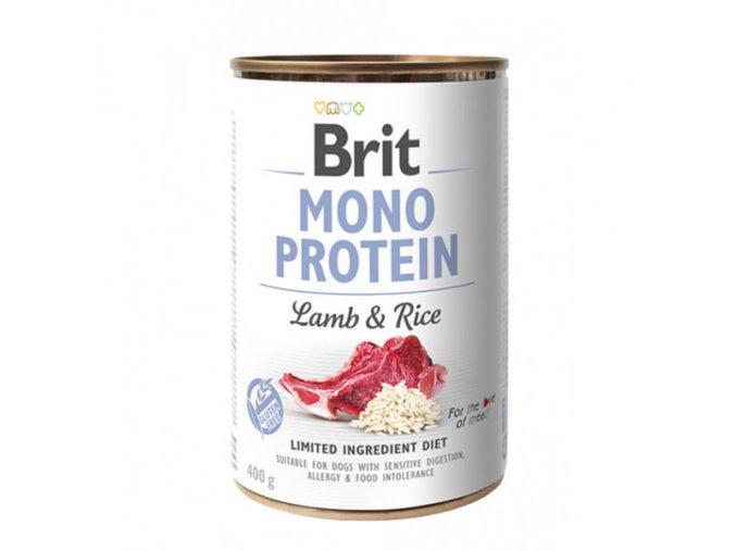 brit dog konz mono protein lamb brown rice 400g