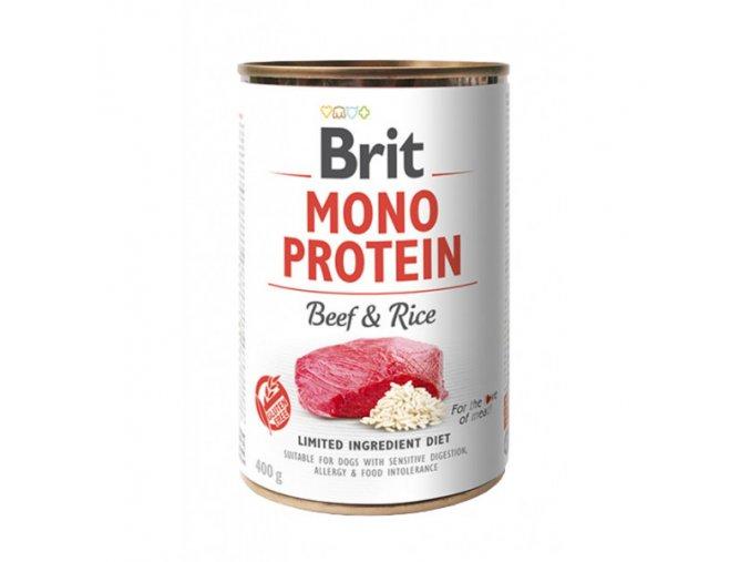 brit dog konz mono protein beef brown rice 400g