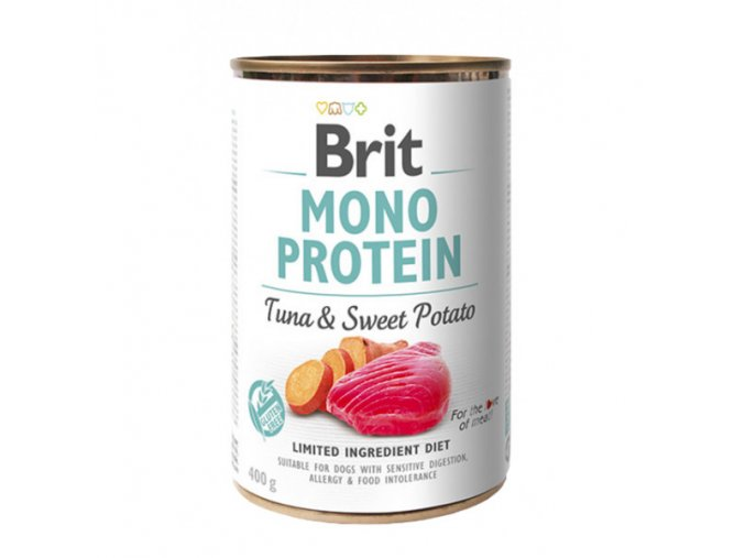 brit dog konz mono protein tuna sweet potato 400g