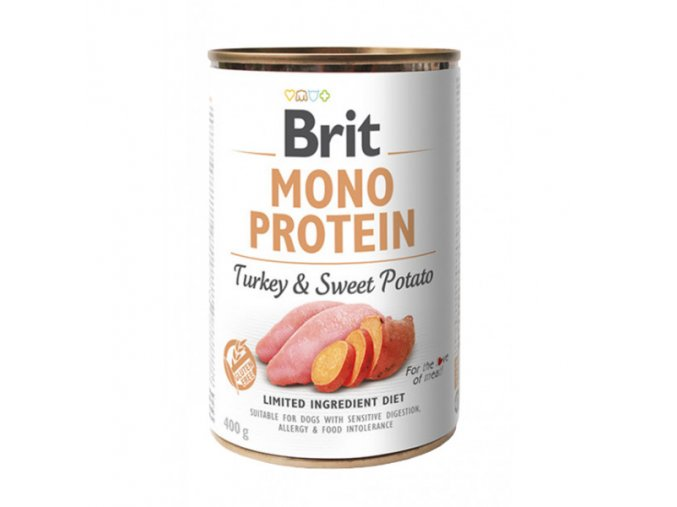 brit dog konz mono protein turkey sweet potato 400g