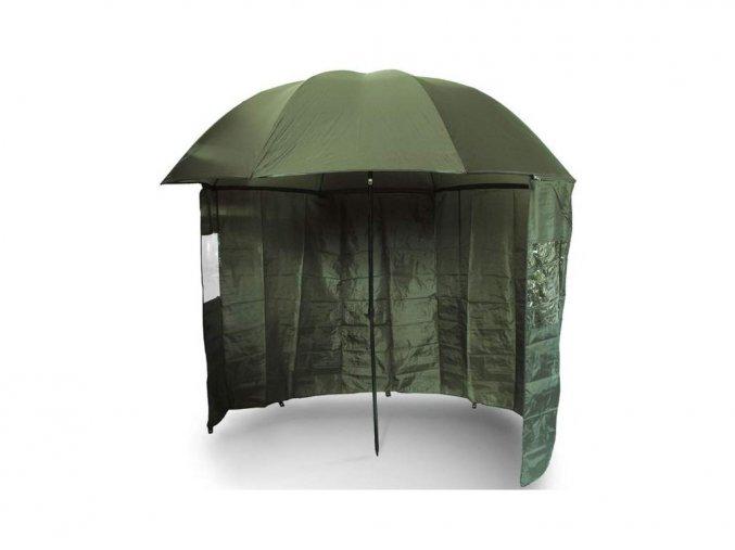 NGT Deštník s Bočnicí Brolly Side Green 2,2m + dárek držák deštníku  zdarma