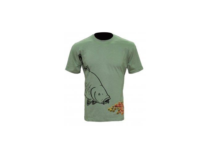Tričko Boilie T-shirt Olive Green velikost M,L,XL,XXL