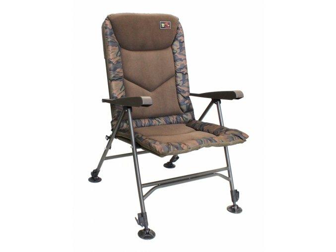 Zfish Křeslo Deluxe Camo Chair- po registraci  snížená cena navíc dárek rybářský nuž