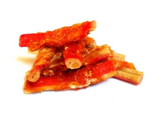 Tyčinka krabí obalená kuřecím masem-250g 129kč Salač