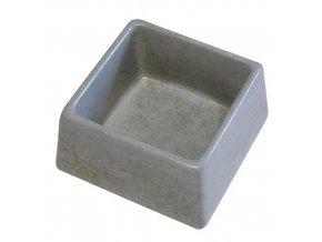 Betonová miska čtverec 0,600l  - šedá