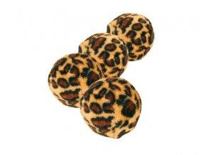 Míčky leopardí motiv 4cm, 4ks