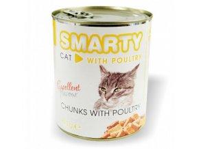 Smarty cat drůbeží 810g