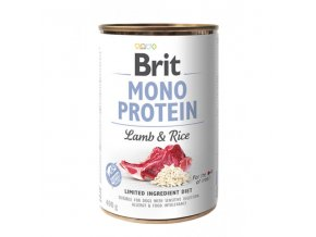 brit dog konz mono protein lamb brown rice 400g