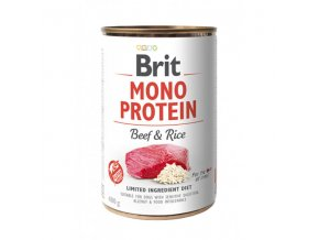 brit dog konz mono protein beef brown rice 400g