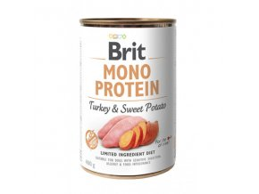 brit dog konz mono protein turkey sweet potato 400g