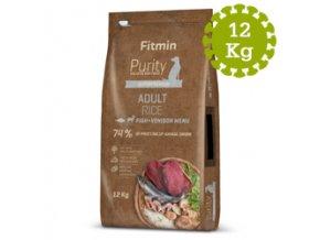 Fitmin dog Purity Rice Adult FishandVeniso12 kg