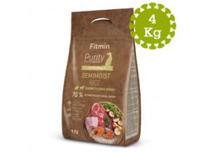 Fitmin dog Purity Rice Semimoist Rabbitand 4 kg