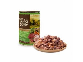 44604 sams field true chicken and calf meat with carrot for puppies 400 g 0
