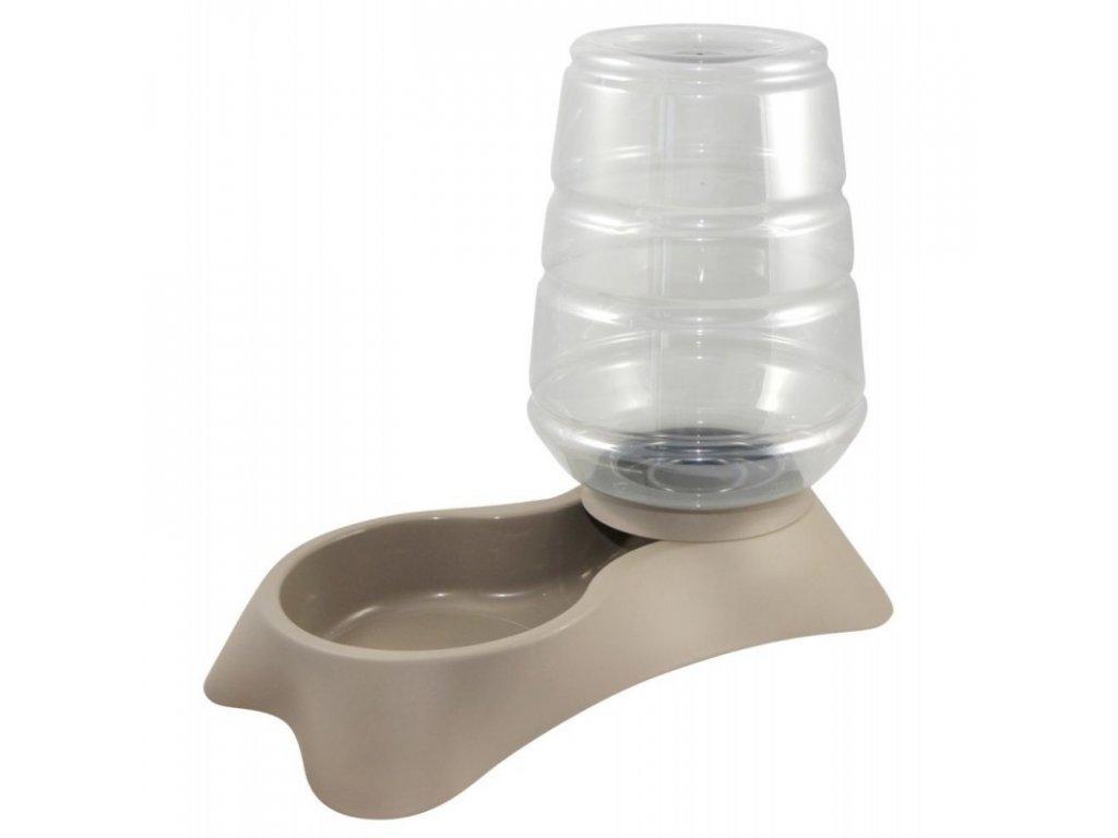 KERBL Zásobník s miskou na vodu pro psy a kočky popelavě hnědý, 3,8 l