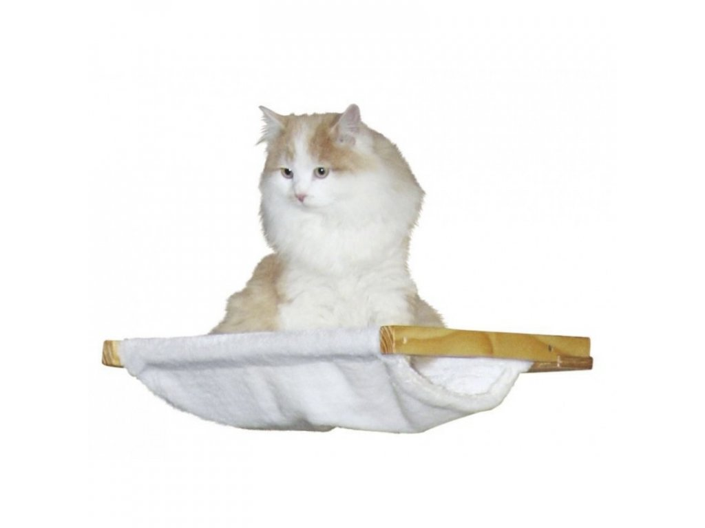 Nástěnný závěsný pelíšek, bílý, 40 x 45 cm