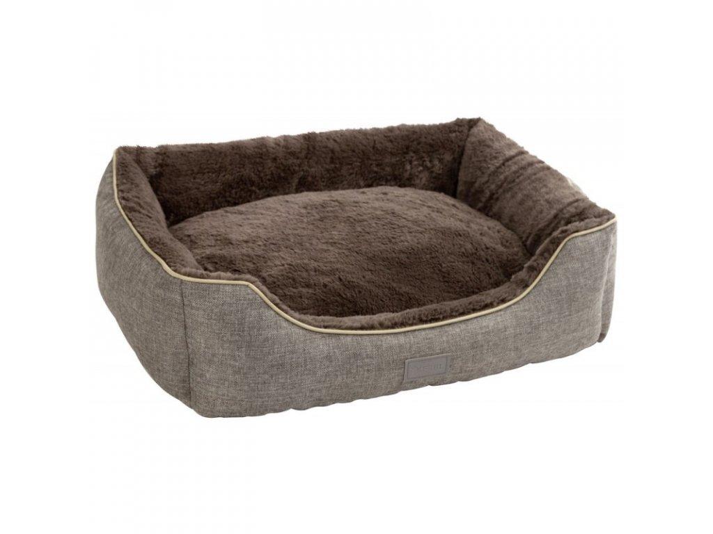 Pelíšek SAMUEL pro psy a kočky, šedý, 50 x 40 x 15 cm