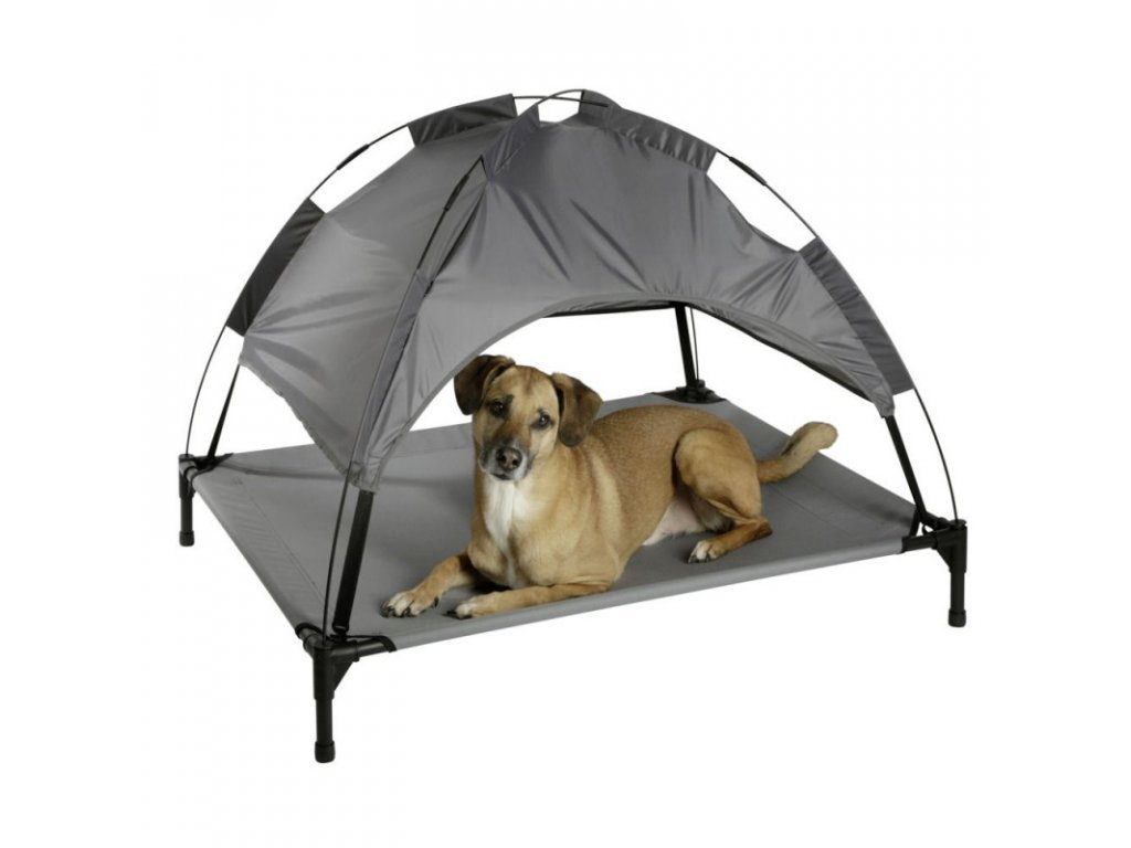 Lehátko pro psy - stan pro psy, šedý, 105 x 86 x 75 cm