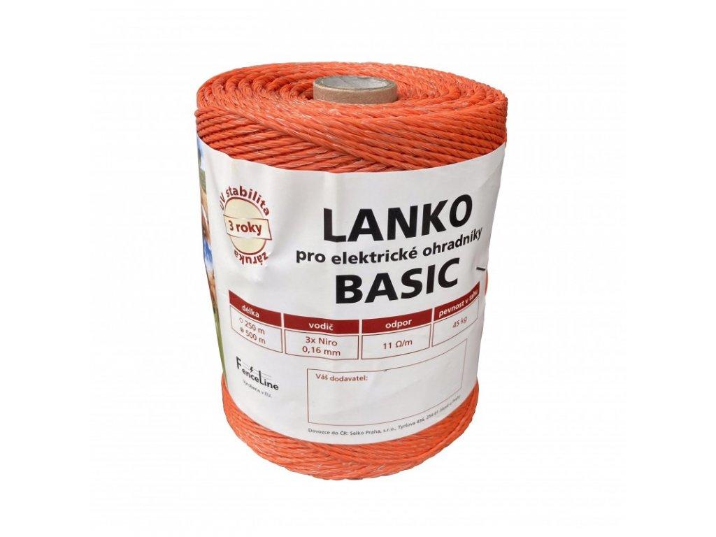 Lanko BASIC pro el. ohradník, 3x0,16 mm Niro, 500 m