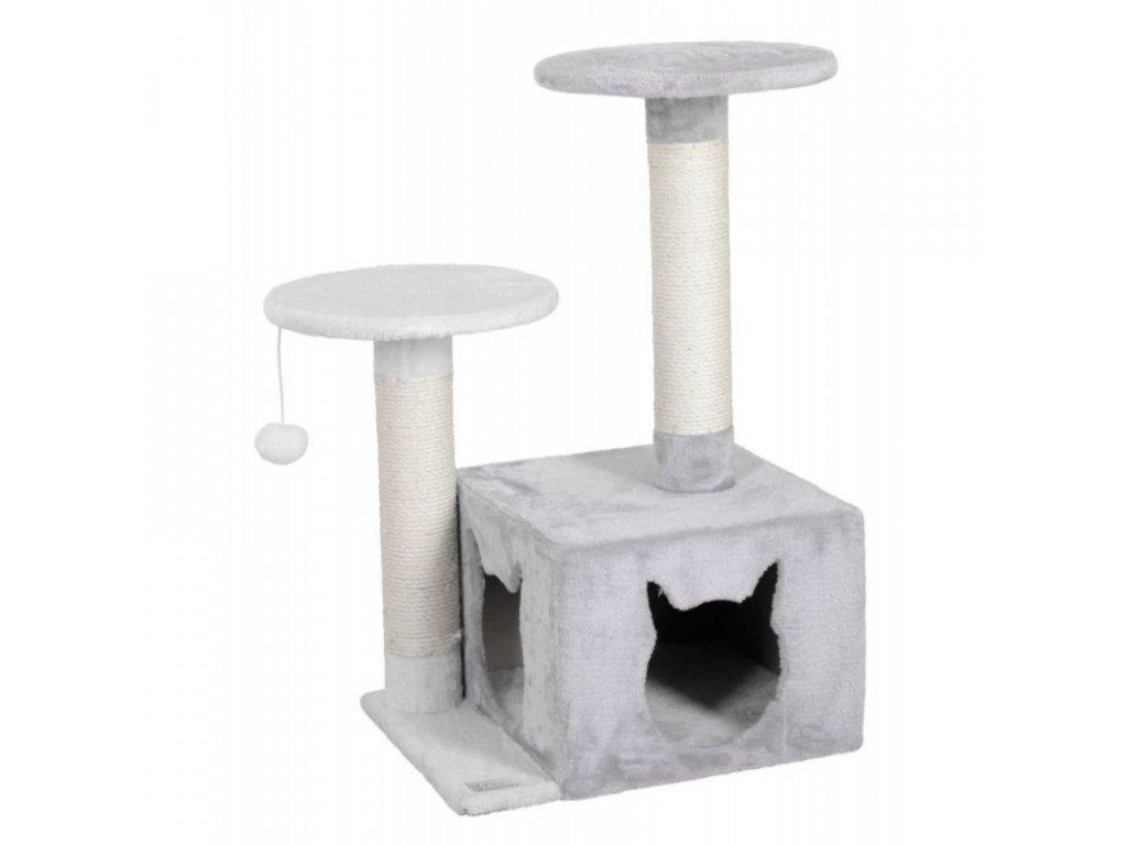 Škrabadlo pro kočky Saphir Light, bílá / šedá, 60 x 50 x 80 cm