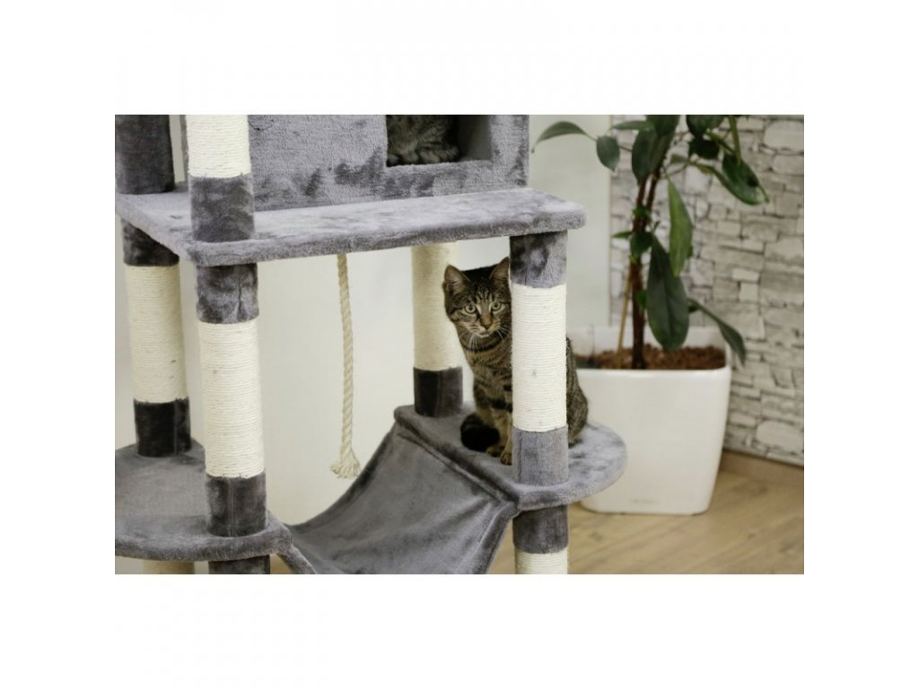 Kerbl škrabadlo pro kočky Matteo, šedé, 162 x 59 x 52 cm  Chejn Micka premium