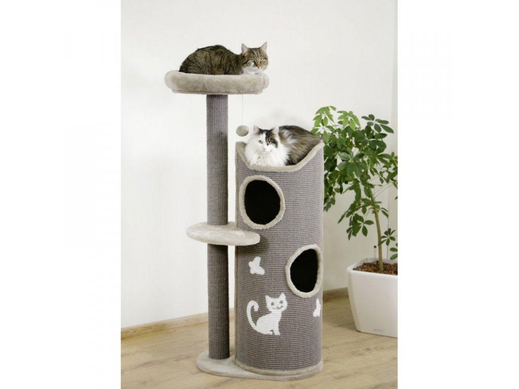 Škrabadlo pro kočky Tiana, šedé, 70 x 56 x 130 cm  Chejn mia exclusive