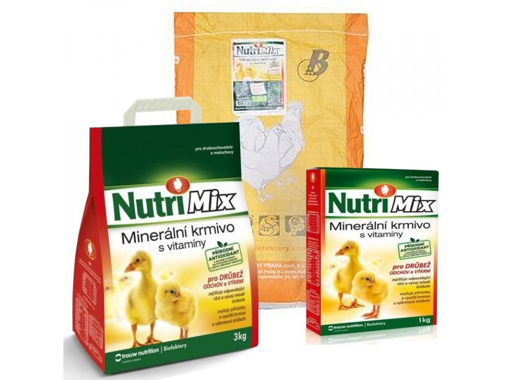 Nutri Mix pro drůbež, výkrm a odchov, 20 kg
