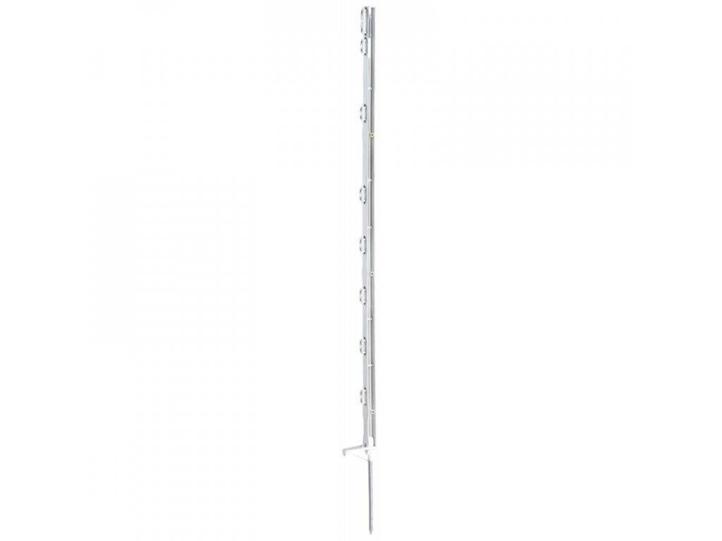 Tyčka - sloupek pro elektrický ohradník, plastová bílá, 105 cm, 1 nášlapka