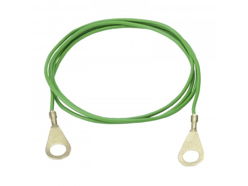 Kabel propojovací pro el. ohradníky - zdroj/zemnící tyč, 1 m