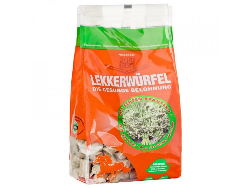 Pamlsek bylinkový pro koně HORSE® fitform s echinaceou, 1 kg
