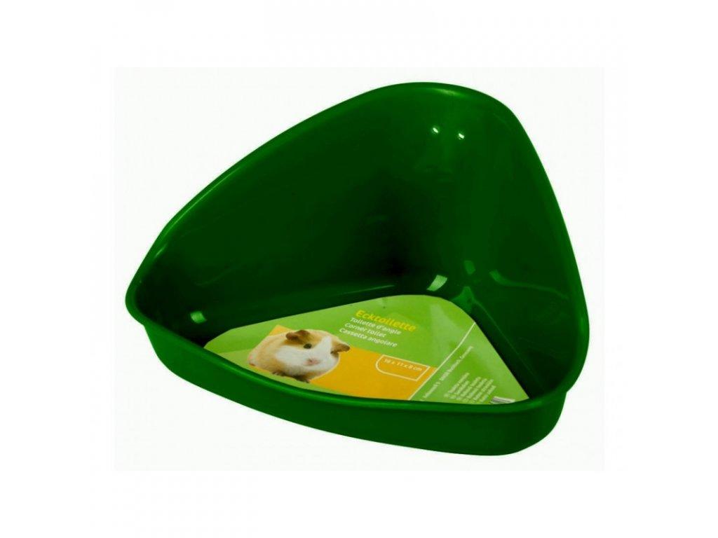 Toaleta pro křečky, plast, barva zelená