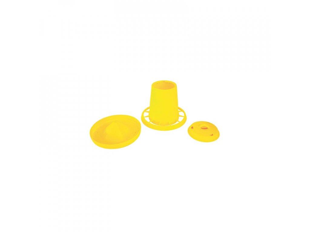 Automat krmící pro drůbež, 10,5 L / žlutá