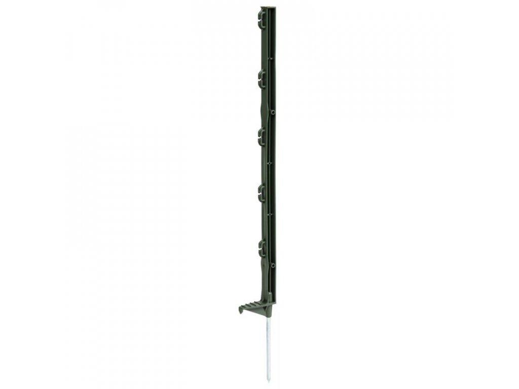 Tyčka - sloupek pro elektrický ohradník, plastová zelená, 70 cm