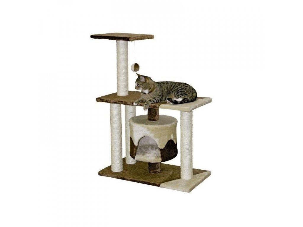 Odpočívadlo JADE pro kočky hnědo/béžové 70x35x96cm