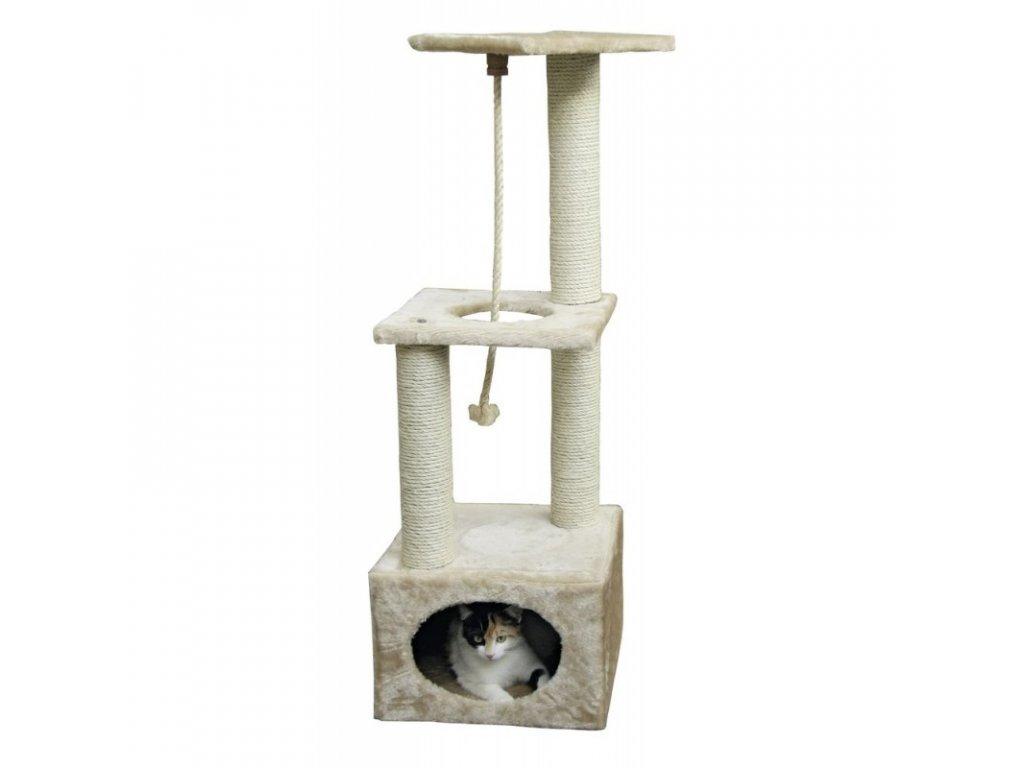 Škrabadlo pro kočky PLATIN Pro - kočičí domek, běžová