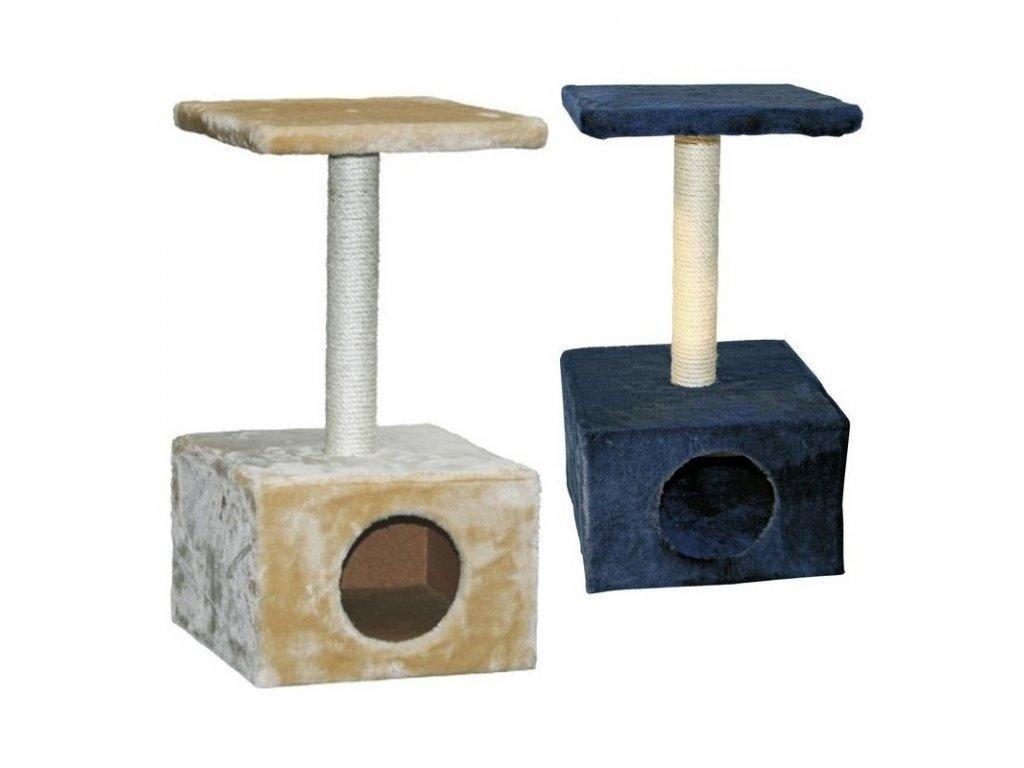 Škrabadlo pro kočky AMETHYST - kočičí domek, tm. modrá