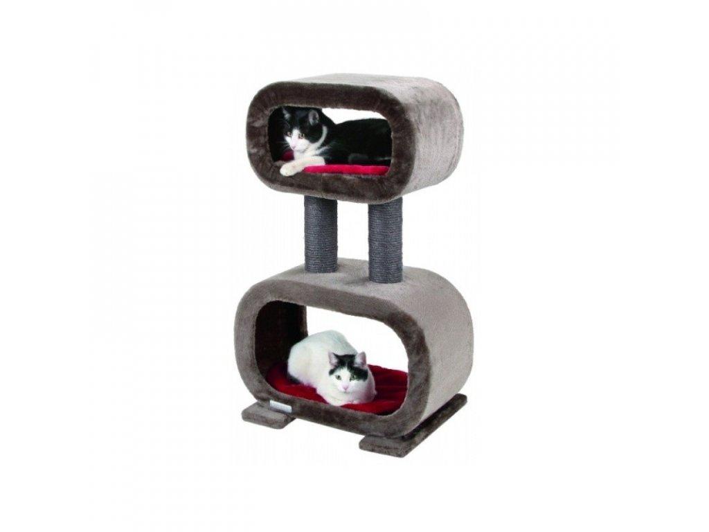 Škrabadlo pro kočky RUBIN - odpočívadlo, šedohnědá
