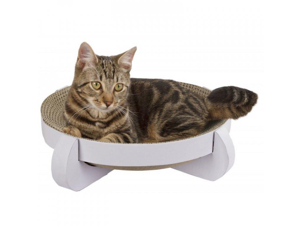 Lehátko škrabací pro kočky Platinum, 35x35x10 cm