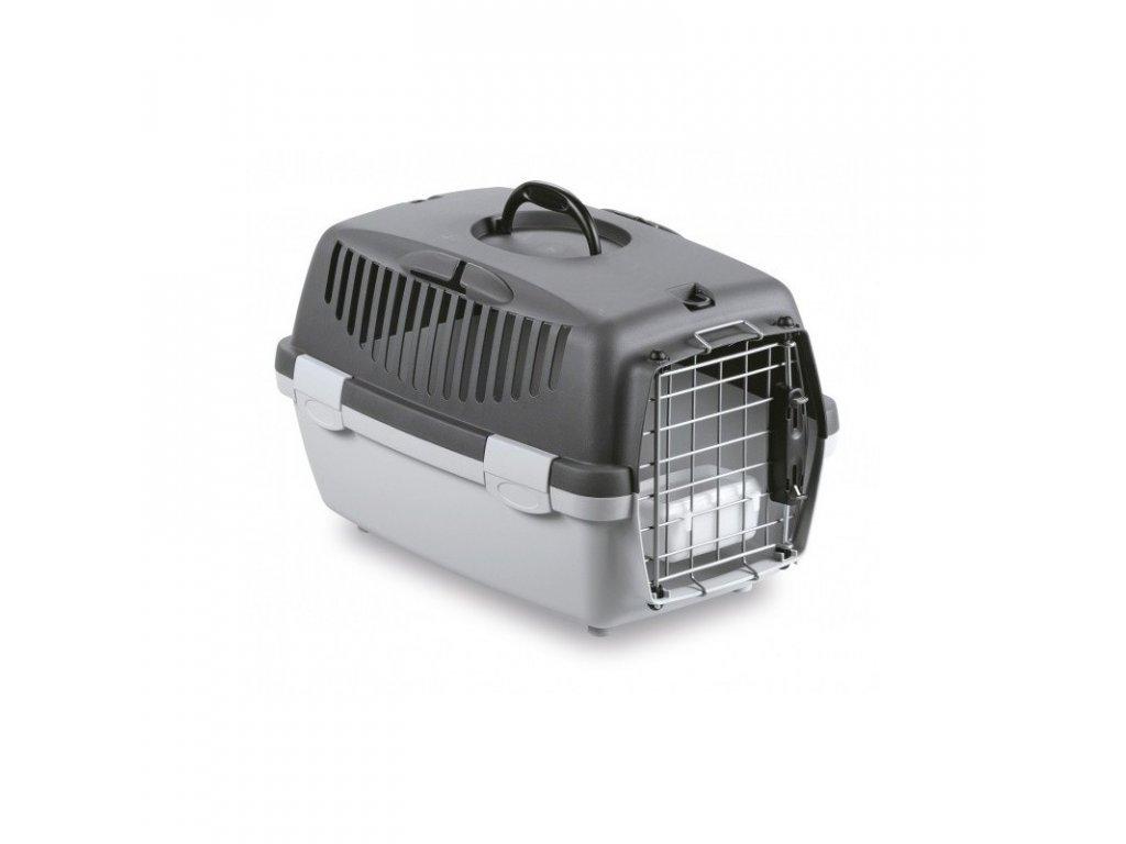 Přepravka pro psy a kočky Gulliver 1 DELUXE, 48x32x31cm, šedá