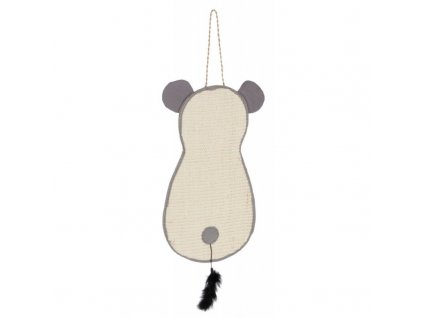 Škrabadlo pro kočky - sisalová škrabací myška, 66 x 25 cm
