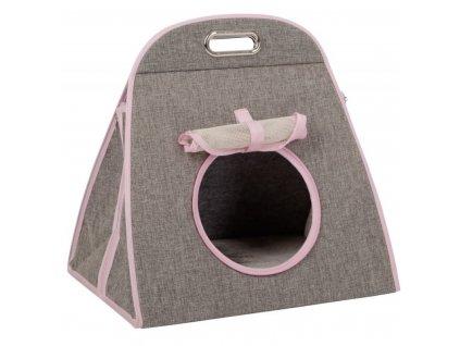 Kukaň pro kočky, transportní taška se škrabadlem, 42 x 30 x 41 cm