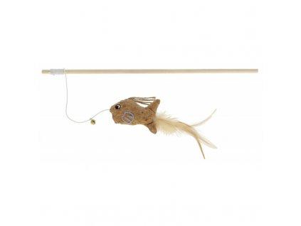 Kerbl hračka pro kočky - prut s rybičkou, 40 cm