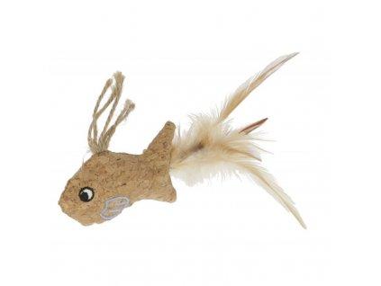 Kerbl hračka pro kočky korková s catnipem, 21 x 10 cm