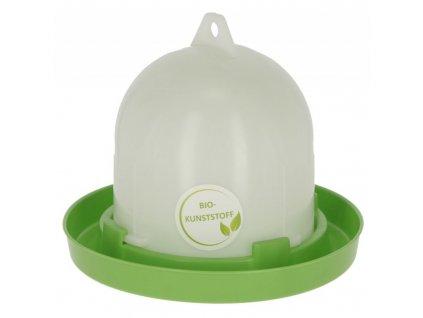 Napáječka pro drůbež klobouková s bajonetem, EKO plast, bílá / zelená, 3,5 l
