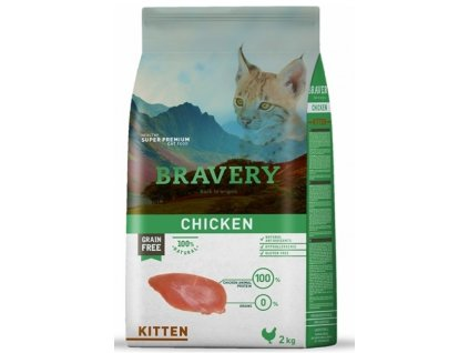 5697 bravery cat kitten grain free 2kg