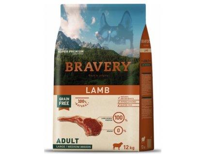 BRAVERY dog ADULT Large / Medium Grain Free lamb 12kg   Tenesco.cz